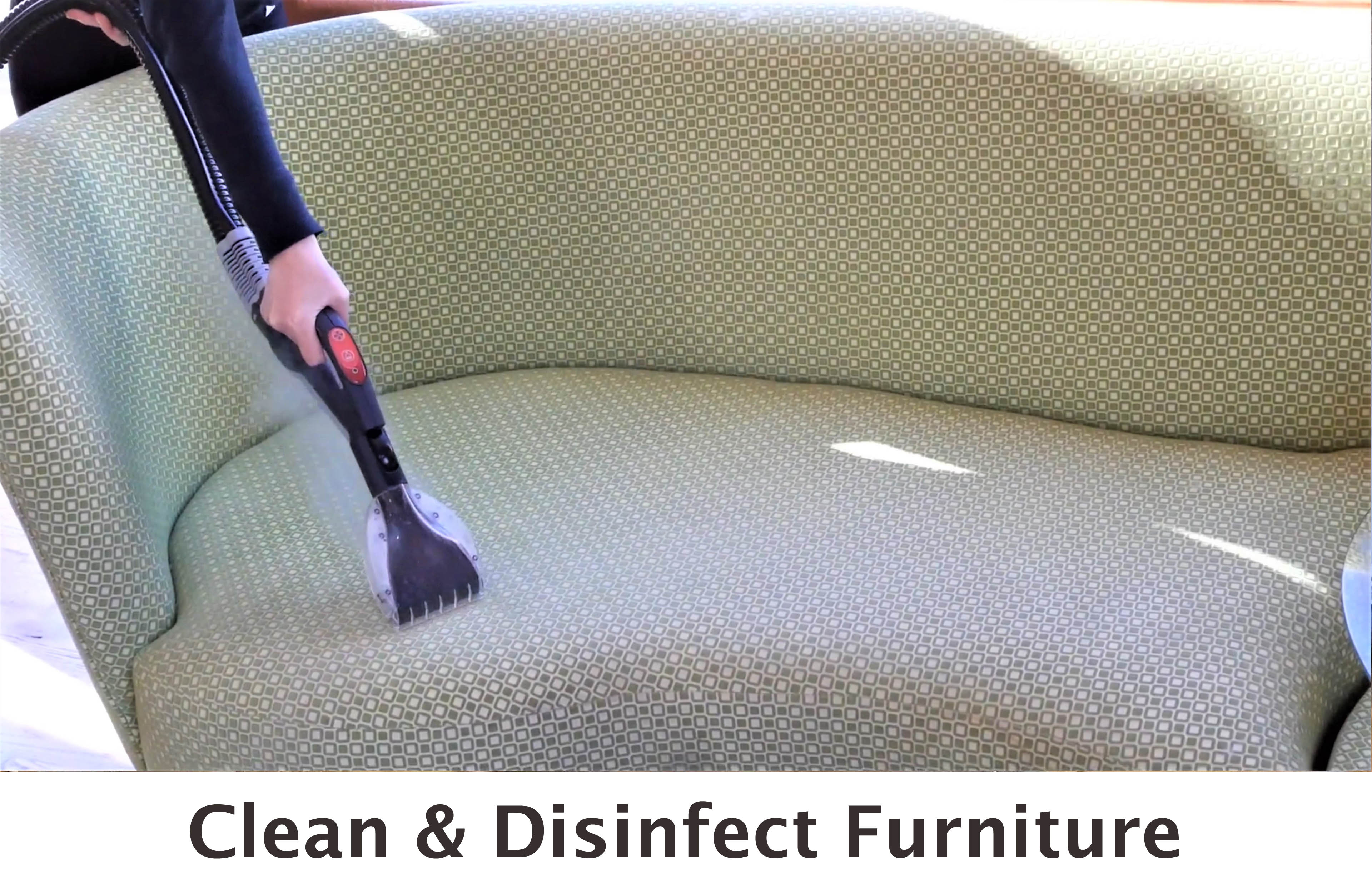 Clean and Disinfect Furniture with steam cleaning